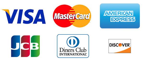 各種使えるクレジットカードの種類です