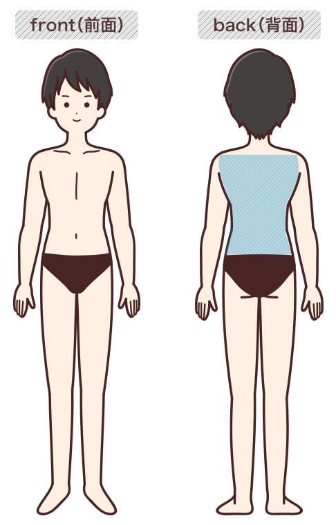 背中の脱毛部位